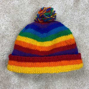 3/$30 - Himalayan 100% Wool Rainbow Winter Hat